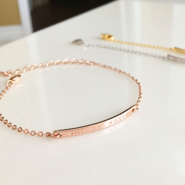 dated rose gold bracelet