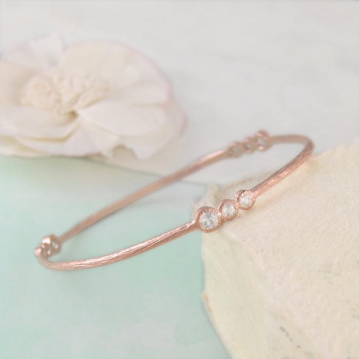 dipped rose gold bangle
