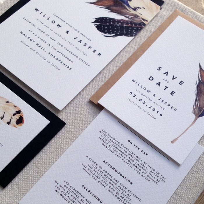 feather modern invites