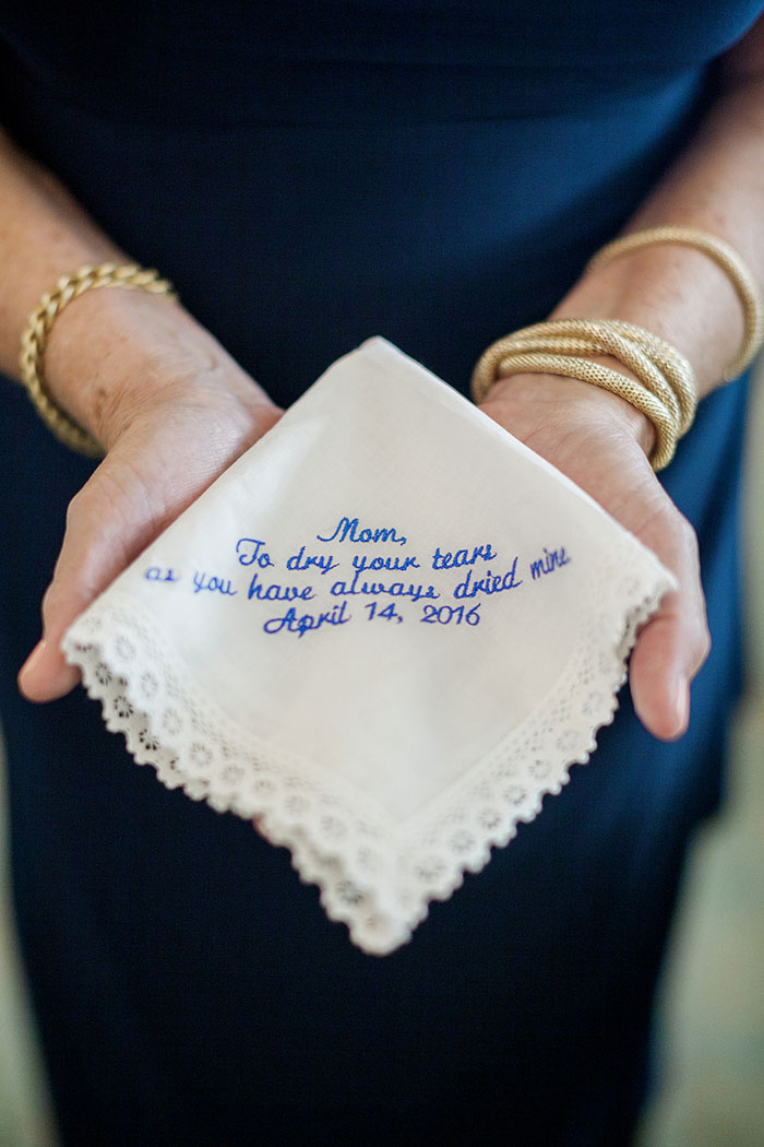embroidered wedding hnadkerchief