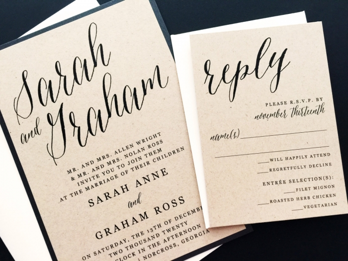 modern wedding invite - Modern Wedding Invites