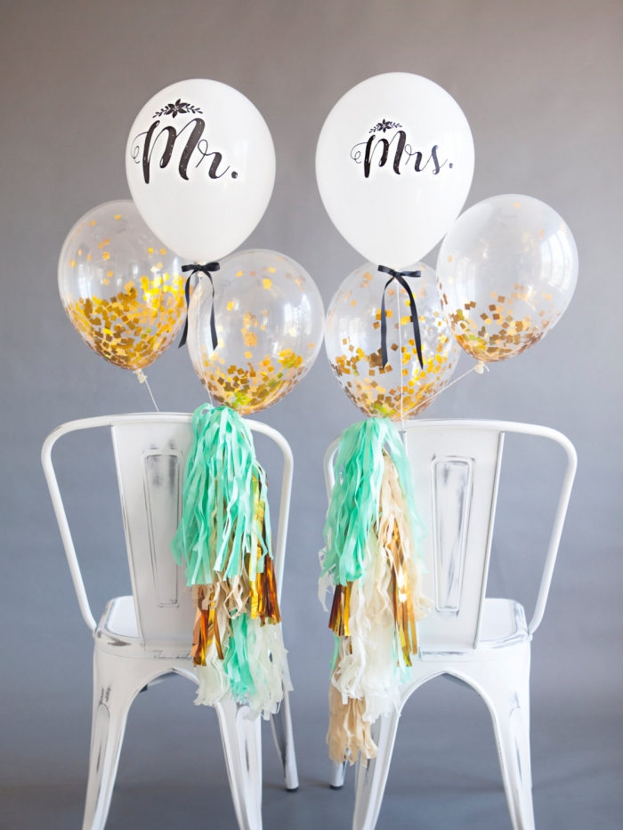 mr mrs chair balloons