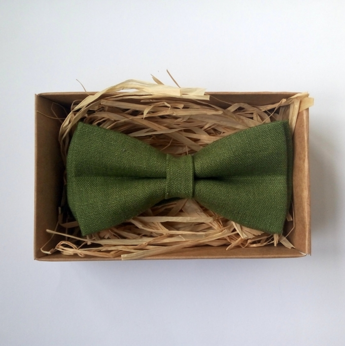 olive green bowtie
