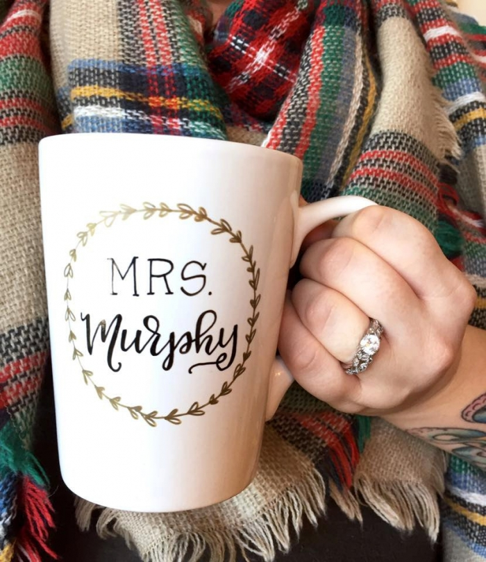 personalize mrs mug