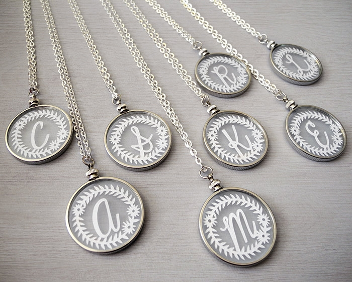personalized boho initial necklaces