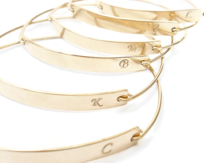 personalized gold bangles