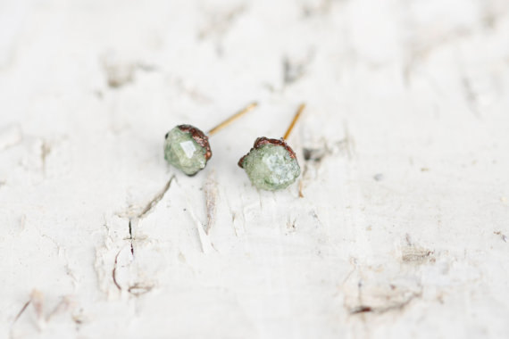 raw stone earrings