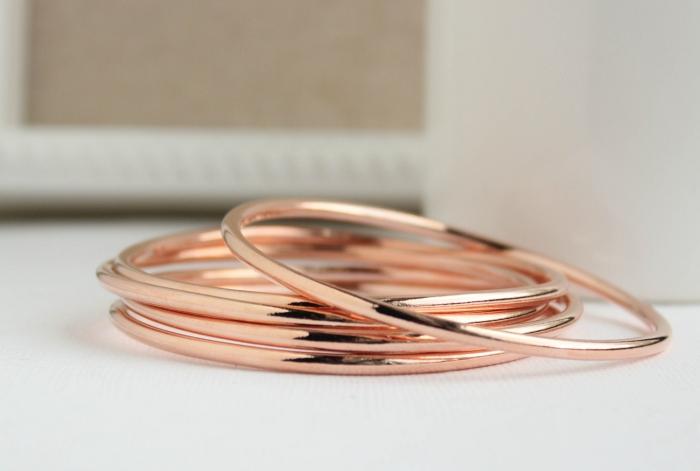 rose gold bangles