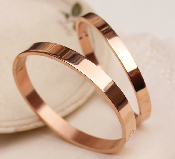 simple rose gold bangles