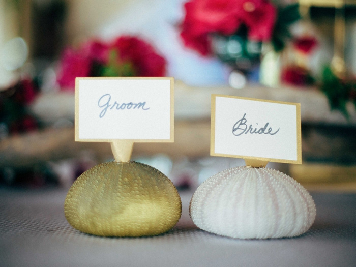 bride and groom name cards