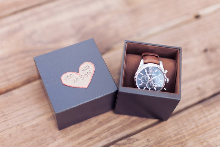 groom's gift of a watch