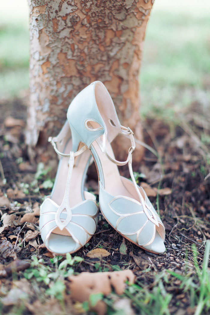 pale blue wedding shoes
