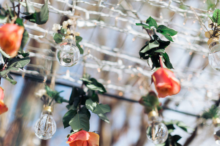 hanging rose chandelier