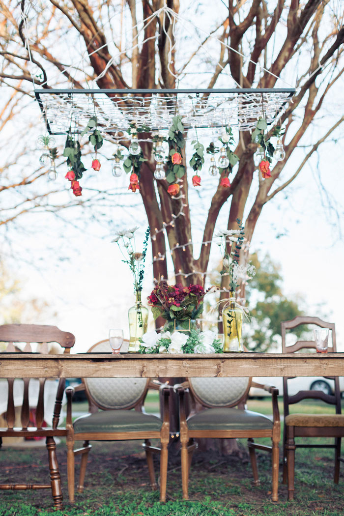 outdoor wedding reception take