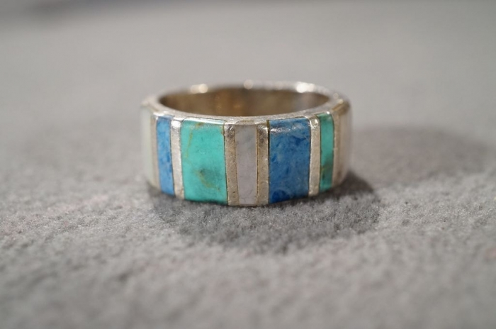 agate and sterling ring