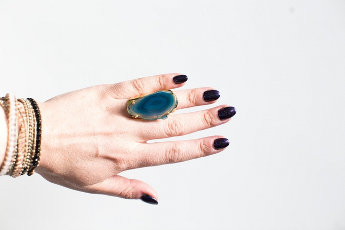 agate ring blue