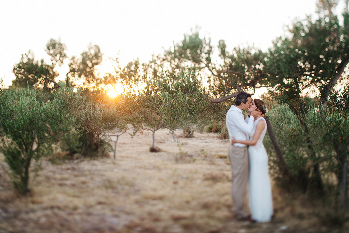 wedding portrait at sunset