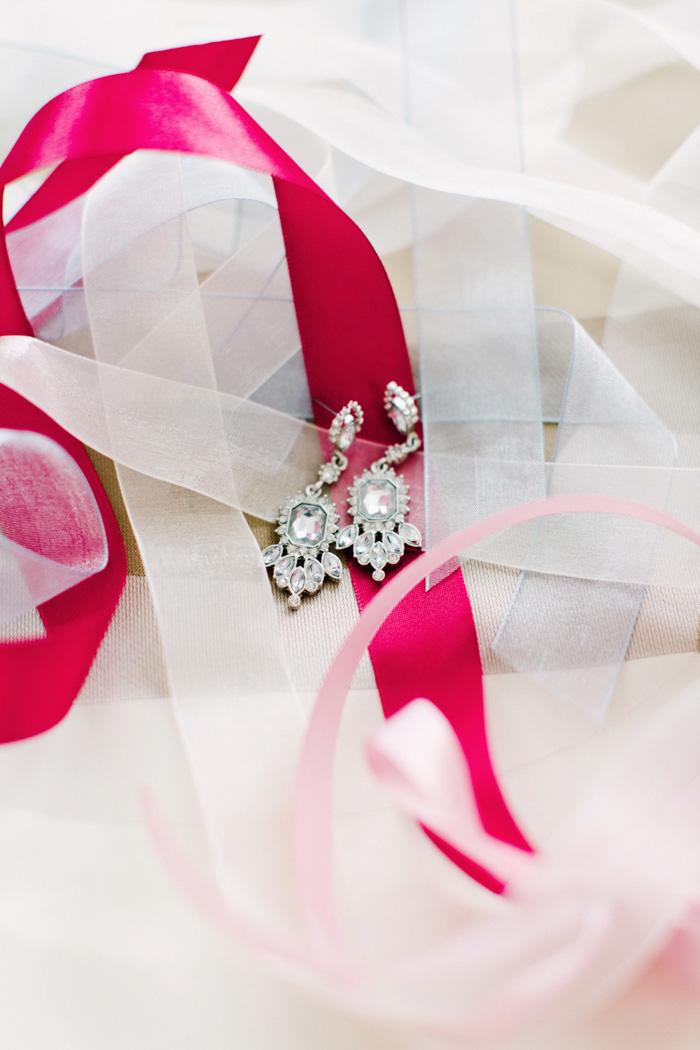 bride's chandelier earrings