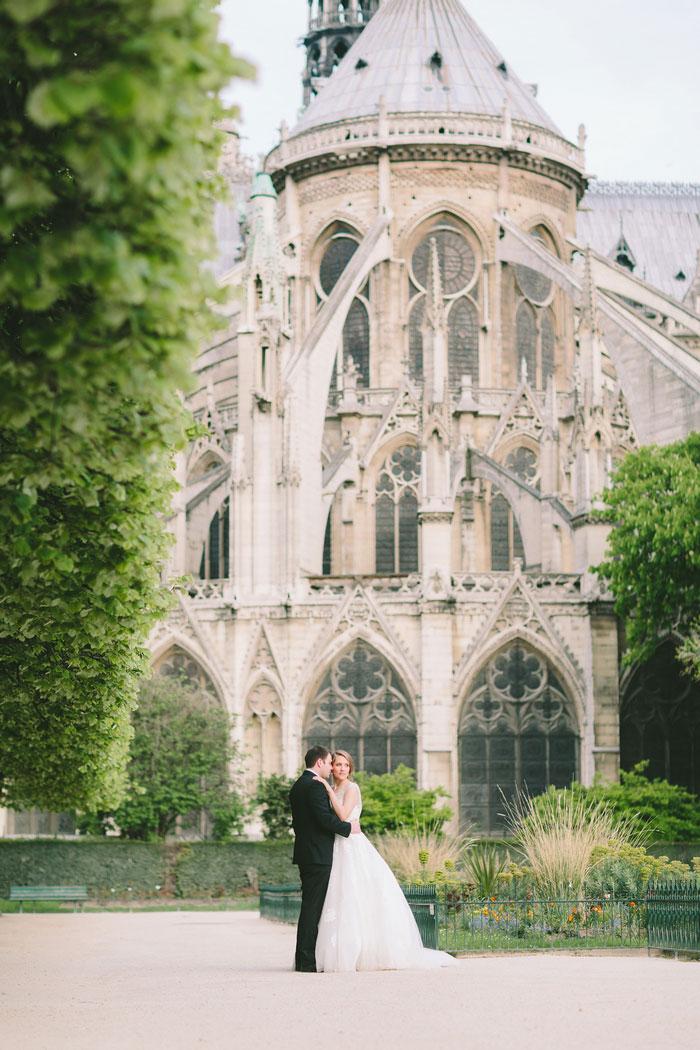 Wedding Portrait In Paris