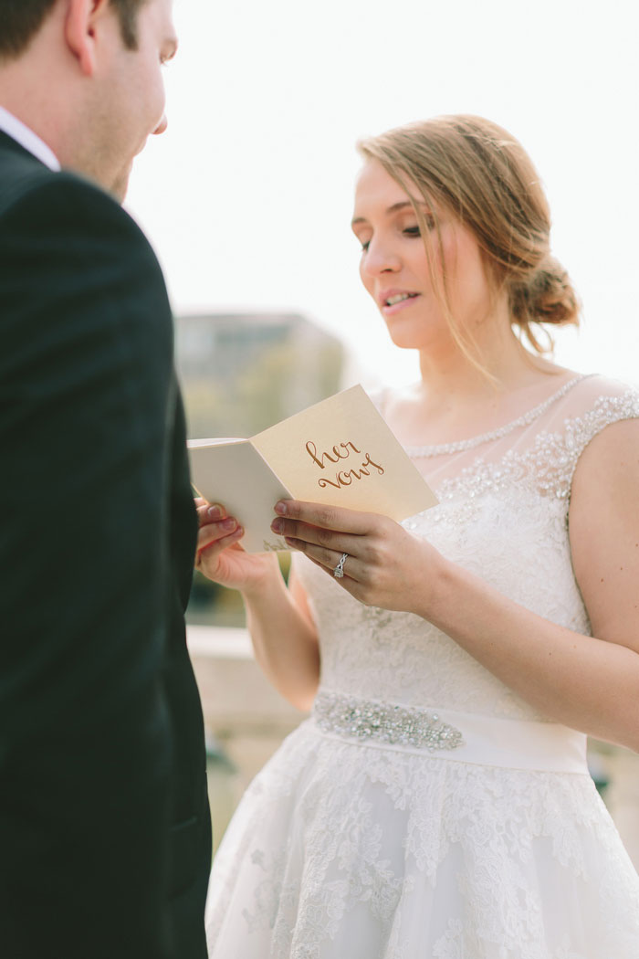 Paris elopement ceremony