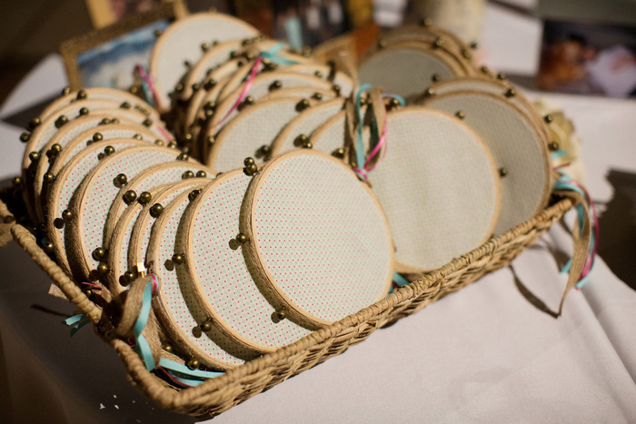 tambourines for wedding guests