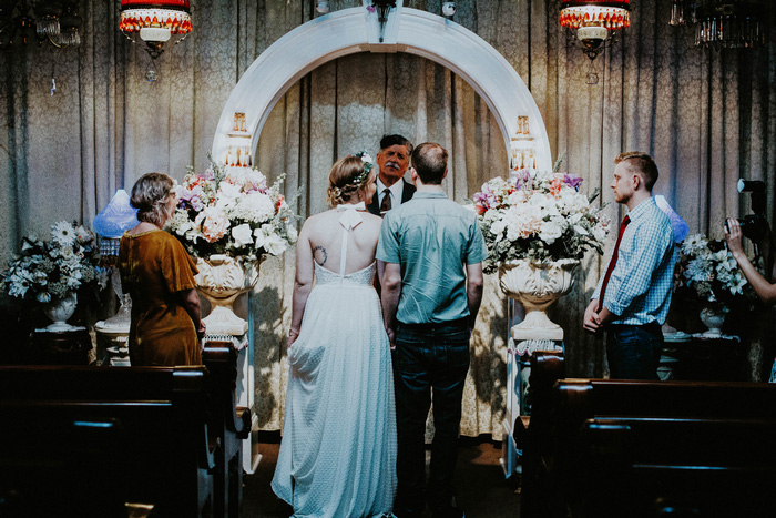 New Orleans wedding chapel ceremony