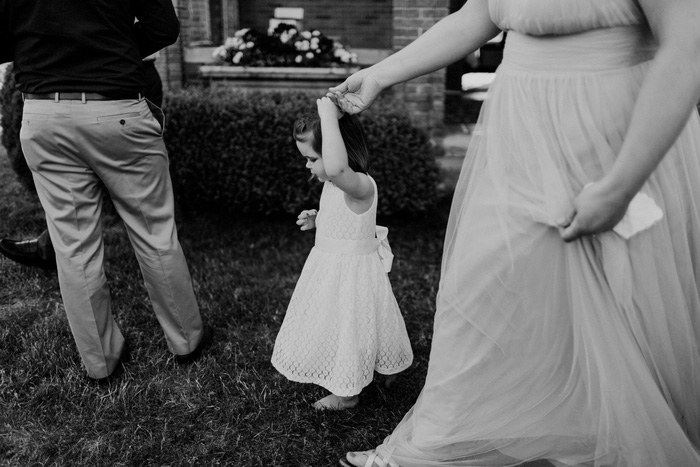 little girl at reception