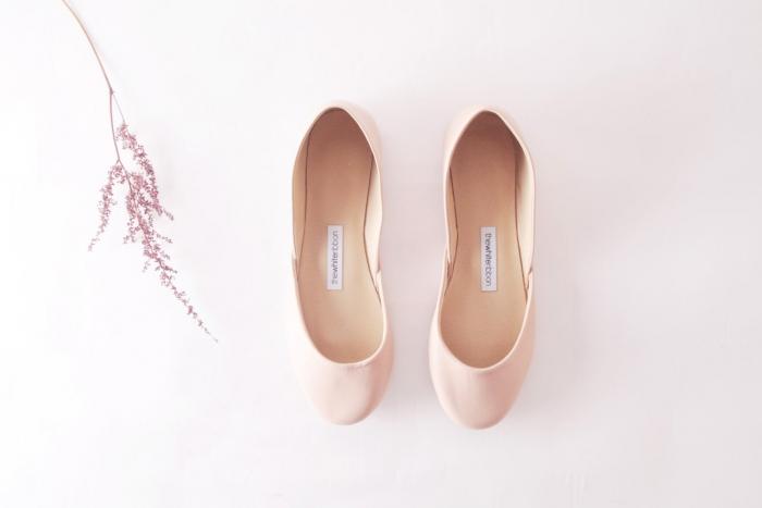 blush ballet shoes
