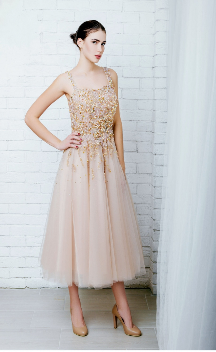 blush tea dress