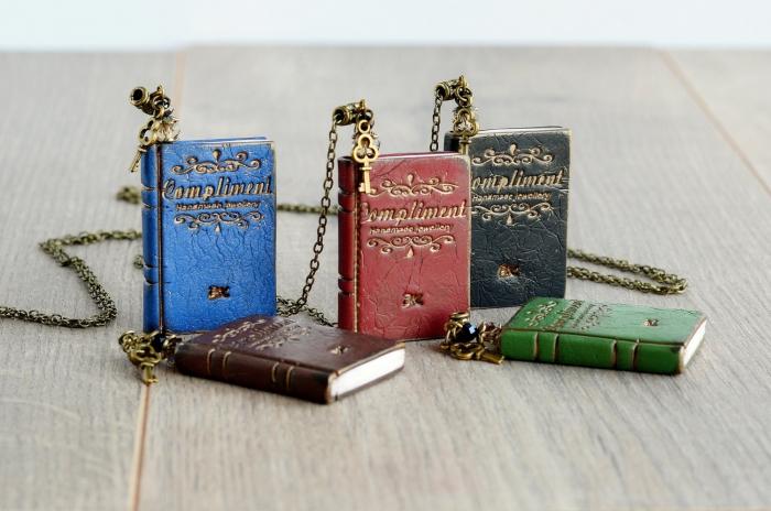 book charm encklaces