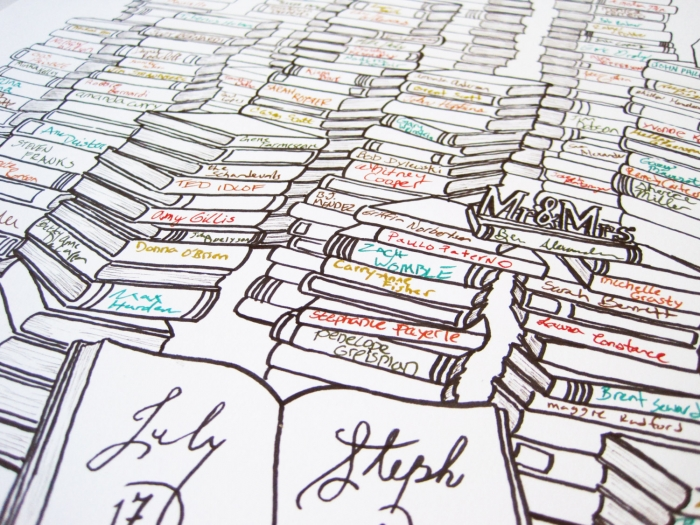 book inspired guestbook