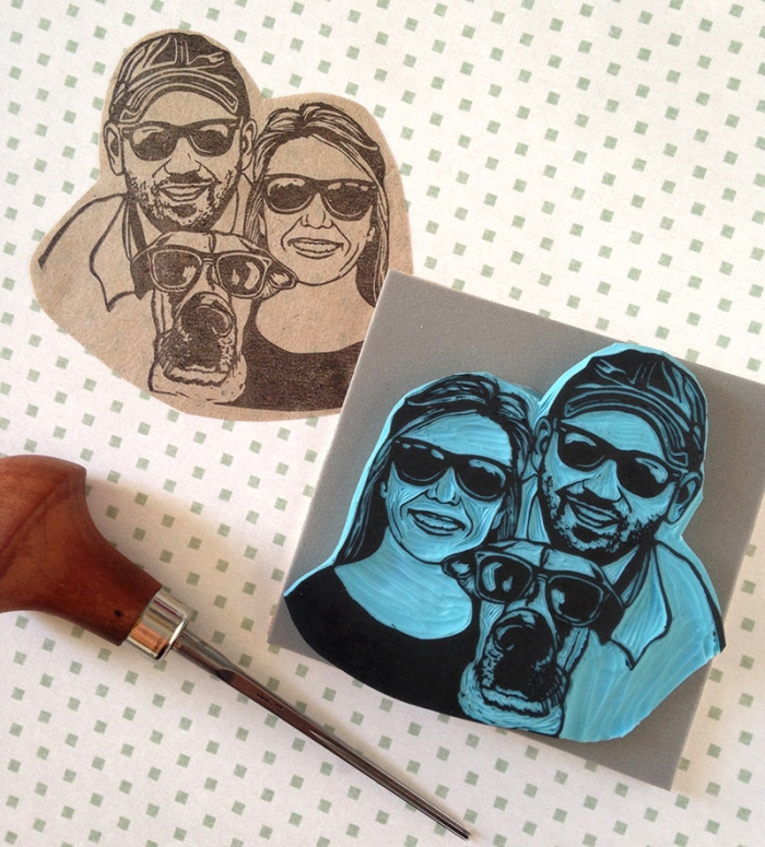 pet family stamp