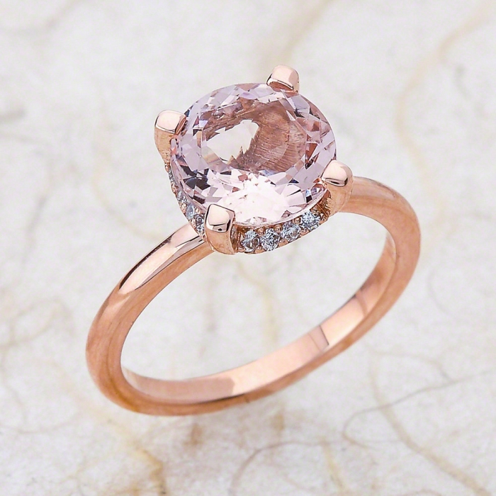 rose gold engagement ring 10