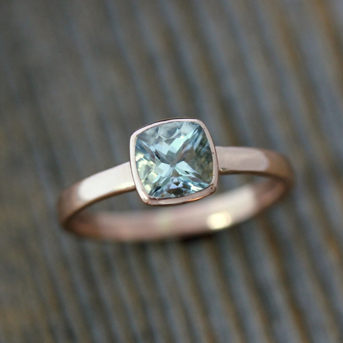 rose gold engagement ring 6