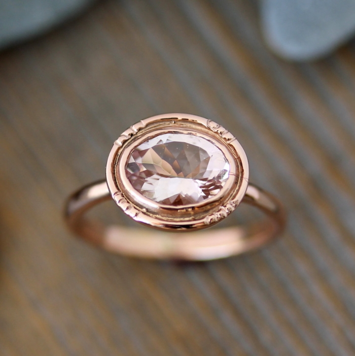 rose gold engagement ring 7