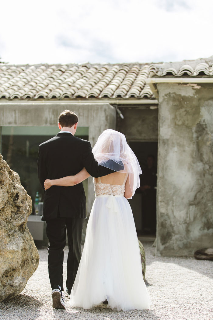 bride and groom portrait from behind