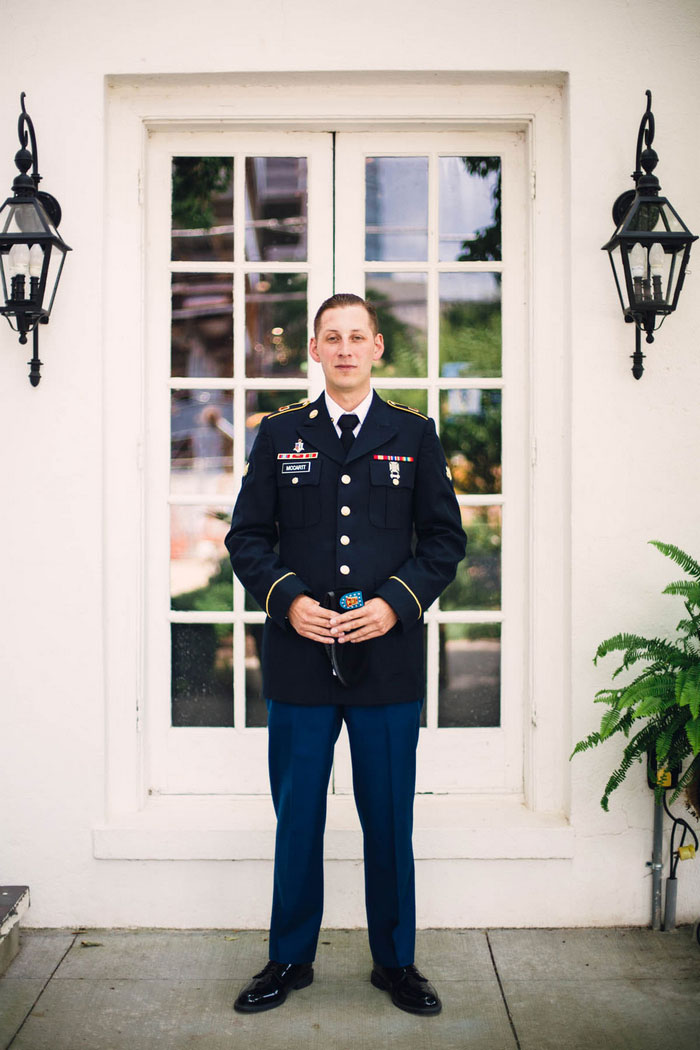 groom in Navy uniform