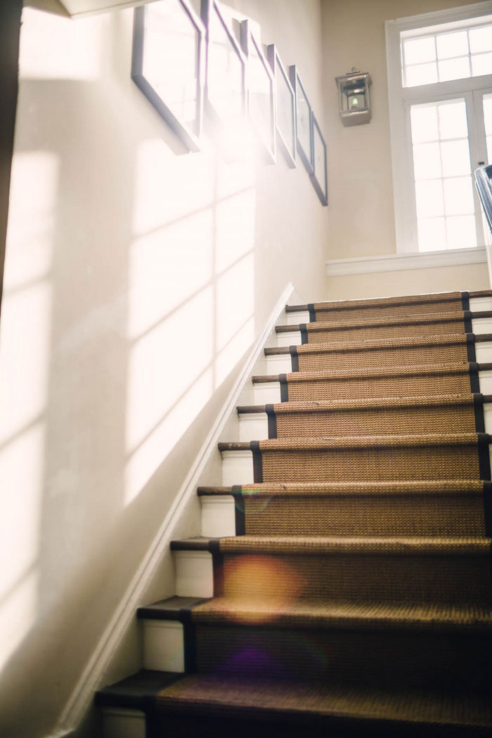 sunlight on staircase
