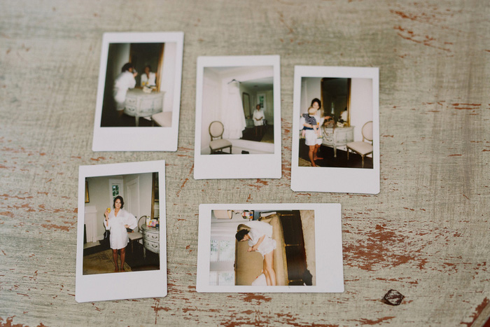 polaroids of bride getting ready
