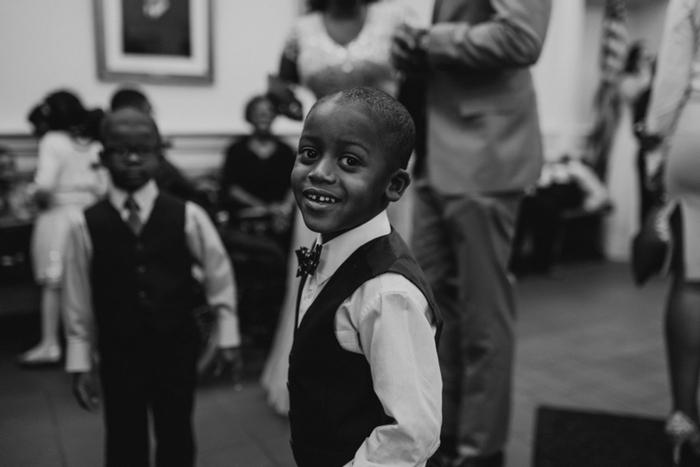 little boy in vest and bow tie