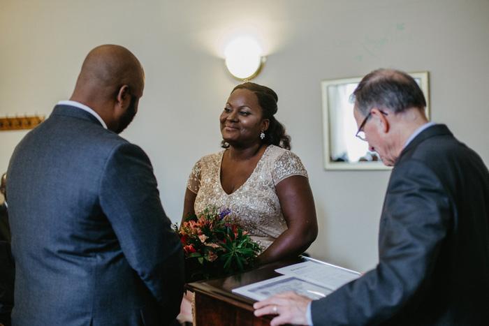 courthouse wedding ceremony