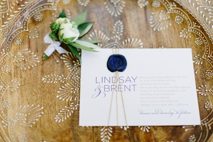 wedding invitation wth wax seal
