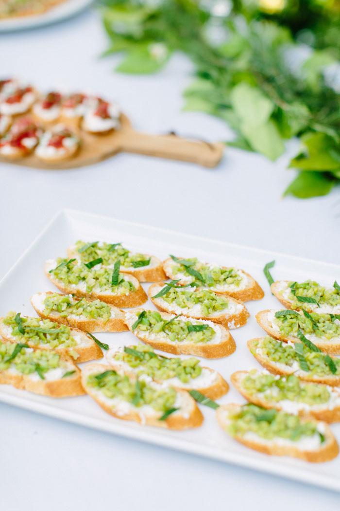 plate of crostini