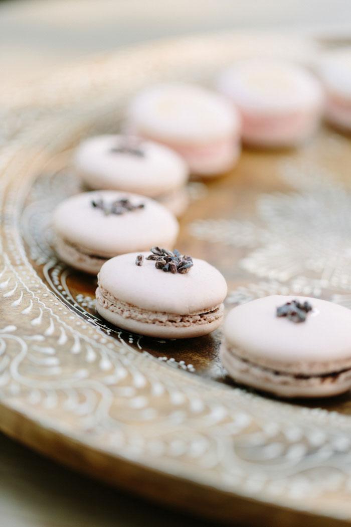 macarons on tray