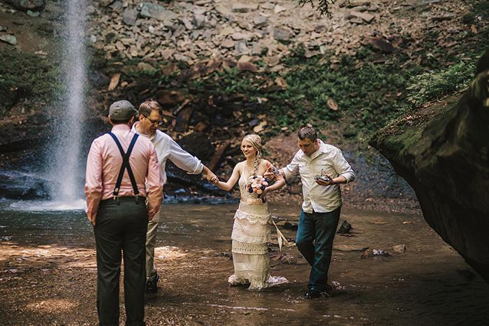 bride crossing creek