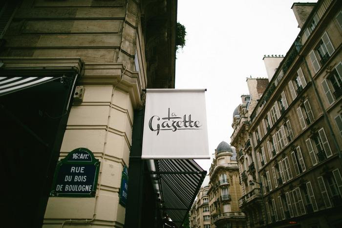 La Gazette sign