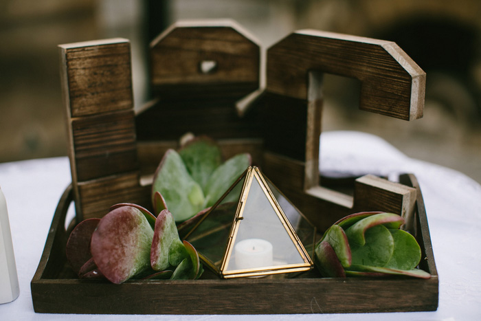 Wooden wedding monogram