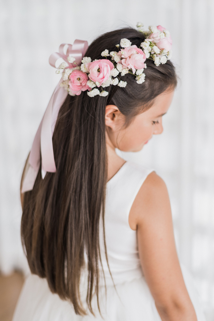 flower girl with flower crown