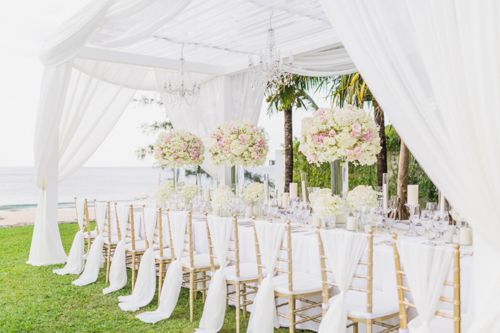 outdoor wedding reception set-up