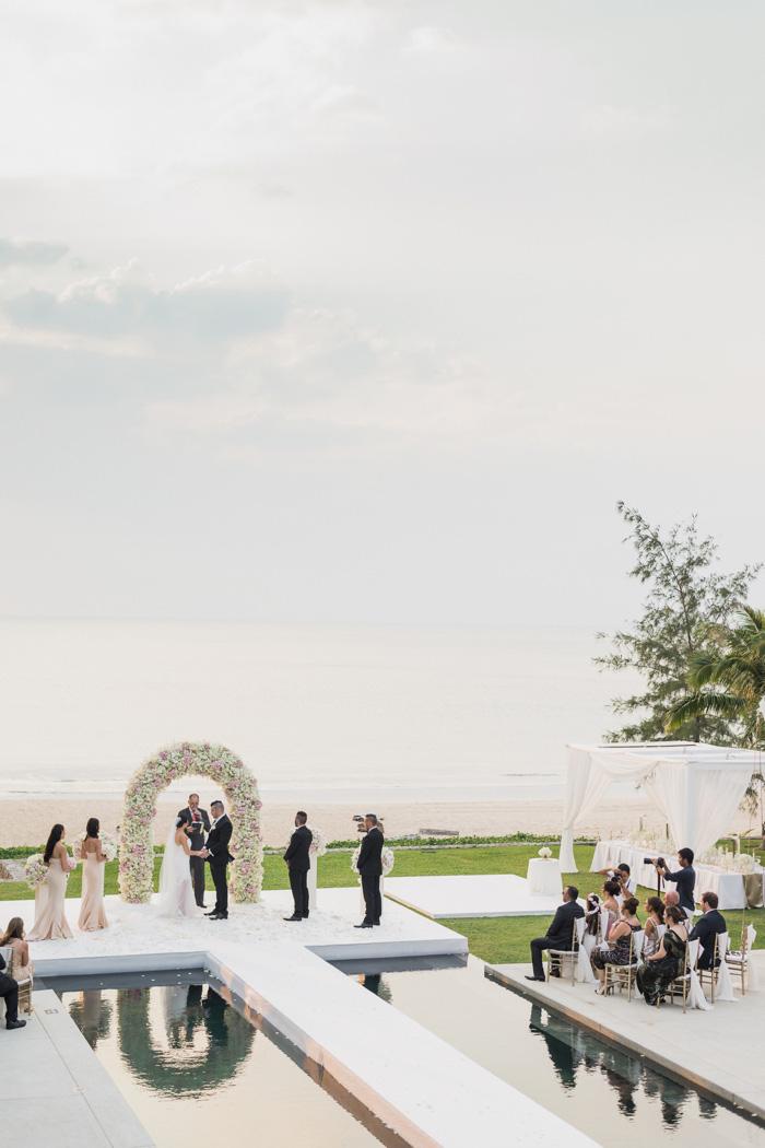 over water wedding ceremony